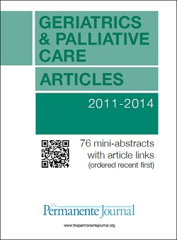 Geriatrics and Palliative Care